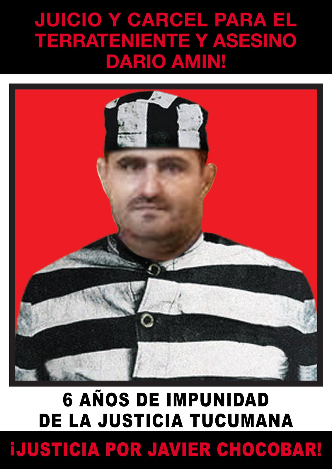 6 AÑOS DE IMPUNIDAD: ¡JUICIO Y CARCEL PARA LOS ASESINOS DE JAVIER CHOCOBAR!