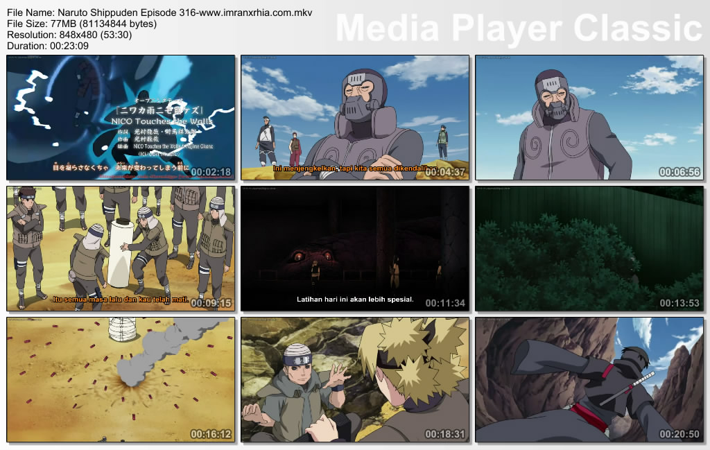 Download Film Naruto Episode 316 s/d 324[Subtitle Indonesia] 3gp,Mp4
