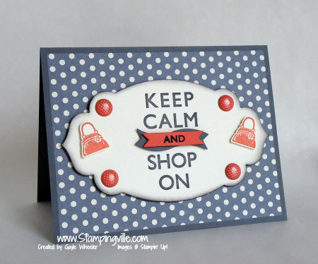 Stampin' Up! Carry On Hostess Stamp Set Greeting Card