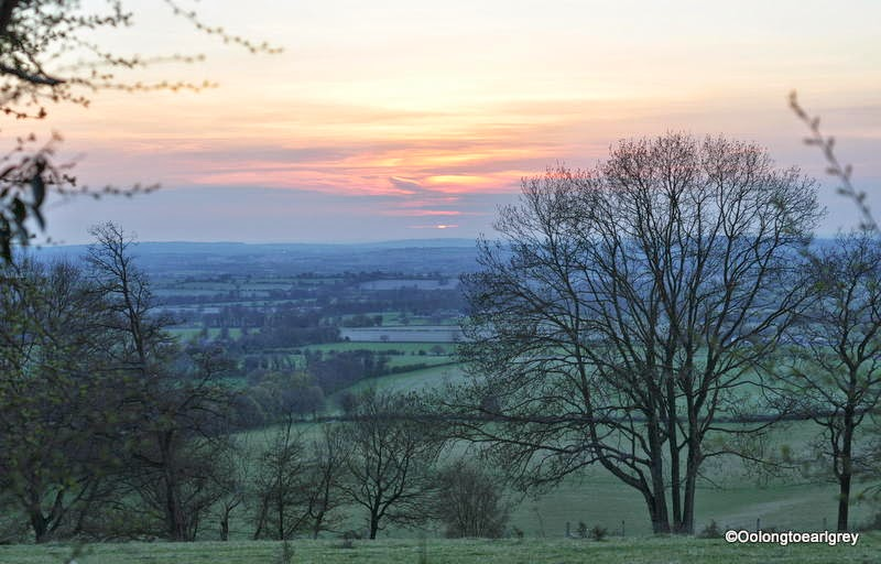 Sunset in the Chiltern countryside