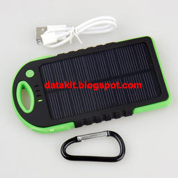 package, tenaga surya, USB cable, carabiner, water resistant, proof