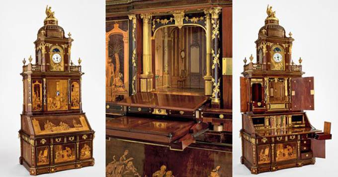 El trabajo de artesanía en este gabinete de 200 años de antigüedad es realmente impresionante
