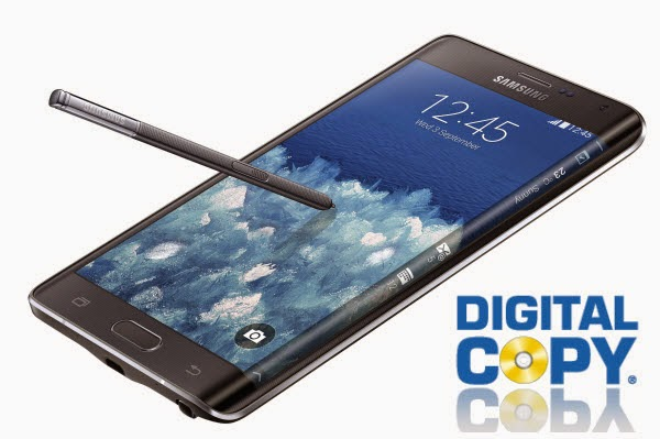 play Digital Copy on curved Galaxy Note Edge