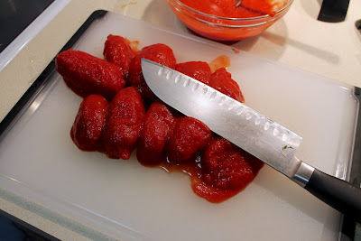 Peeled whole San Marzano plum tomatoes