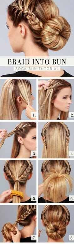 DIY Braid into a Bun Tutorial