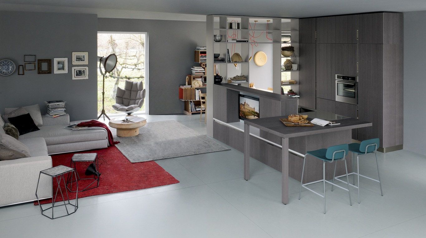 Cucine soggiorno piccole