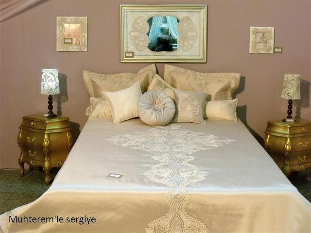 yatak örtüsü dikimi