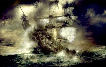 kapal hantu flying dutchman, ditengarai menghantui banyak pelaut di seluruh dunia