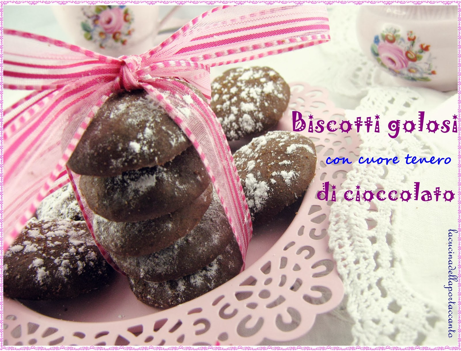 biscotti golosi con cuore tenero di cioccolato