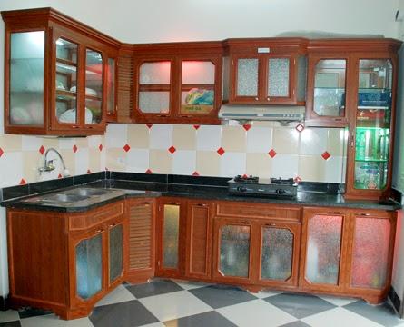 tủ bếp nhôm kính treo tường 3