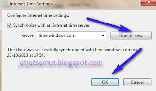 Pengaturan Waktu Komputer Untuk Sinkronisasi Dapodik sesuai dengan jam internet