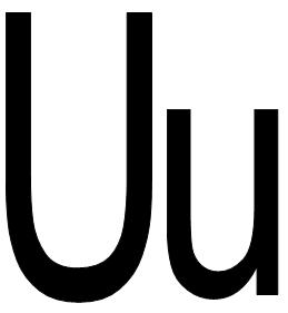 HURUF U