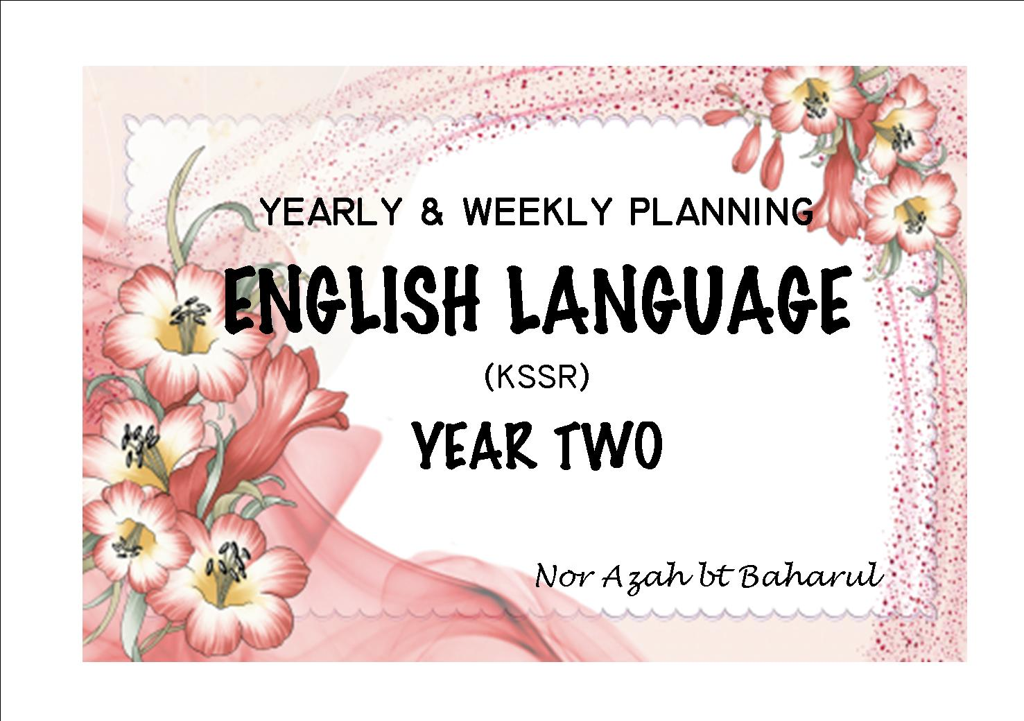 Azza On The Blog Eng Kssr Year 2 Yearly Weekly Planning