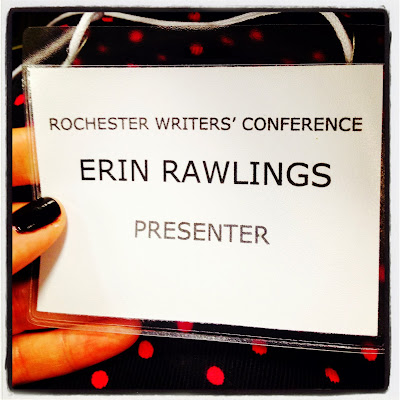 presenter, rochester writers' conference, badge