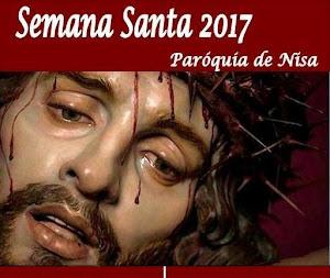 PARÓQUIA DE NISA DIVULGA PROGRAMA DA SEMANA SANTA