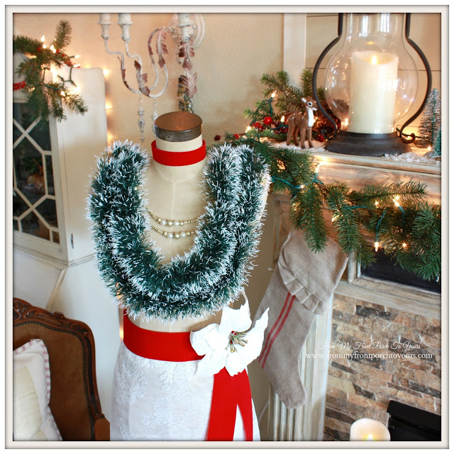 Christmas Dress Form-Dressmaker's Form- From My Front Porch To Yours