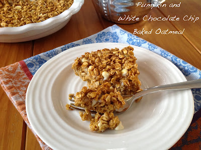 Pumpkin and White Chocolate Chip Baked Oatmeal