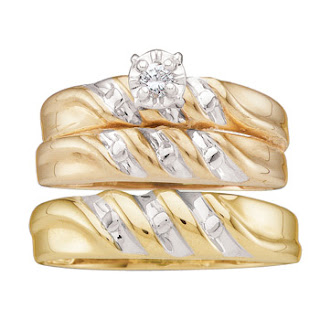 Trio Wedding Ring Sets For Cheap
