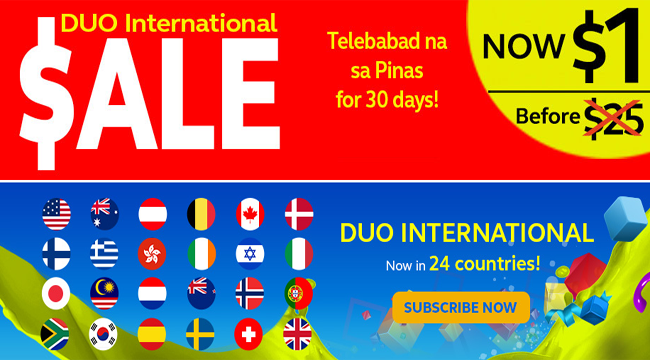 Avail Globe Duo International Promo with 96% Discounted Price: Unlimited Calls from 24 International Countries to Philippines for Just $1