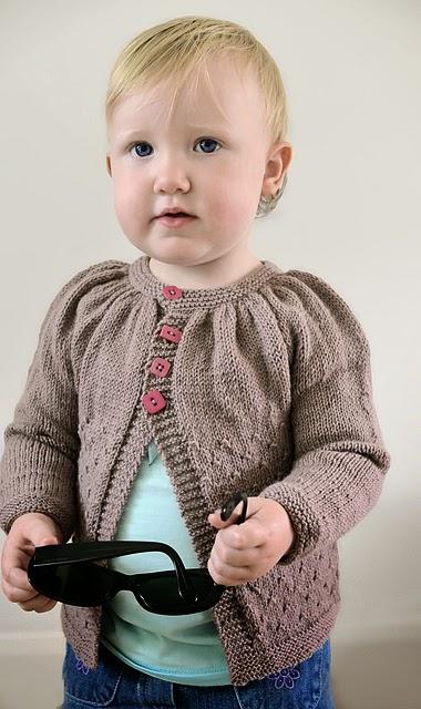 Lil Tamzin girl's cardigan pattern by Katya Frankel