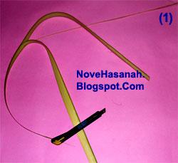 cara membuat kerajinan tangan atau prakarya dari janur daun kelapa muda berupa burung cenderawasih 1