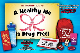 Red Ribbon Week, Red Ribbon Week Theme, Drug Prevention, A Healthy Me is Drug Free