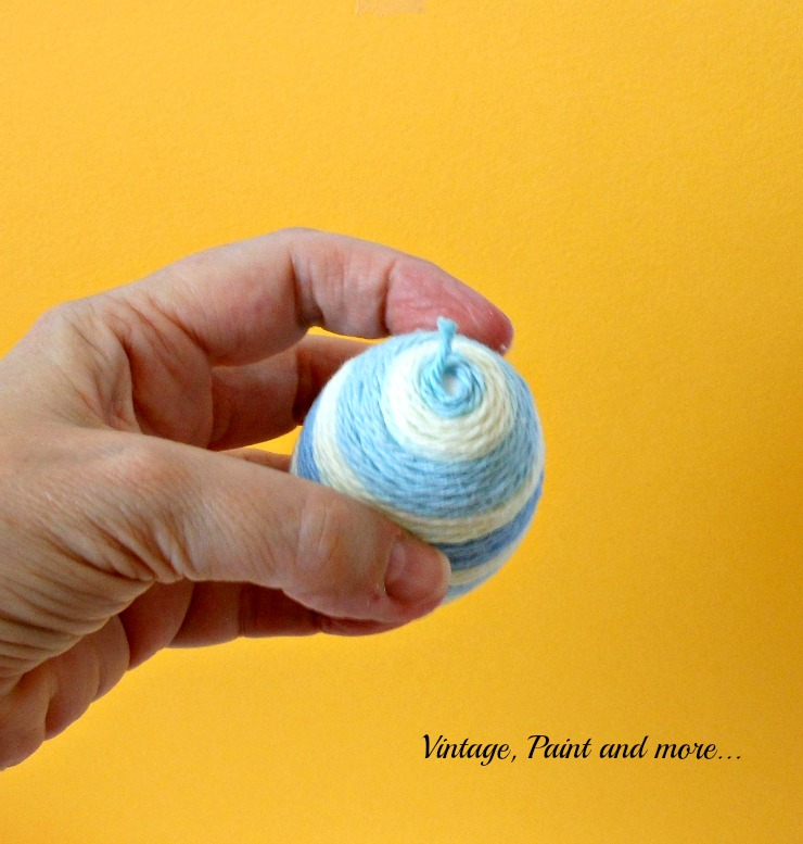 Vintage, Paint and more... ending the egg wrapping process