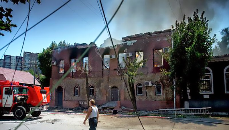 Luhansk is at the edge of humanitarian and ecological catastrophe after terrorists' attacks