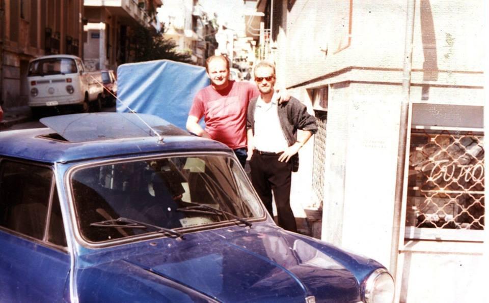 Στην Κυψέλη  στα τέλη της δεκαετίας το '80 με τον Ντίνο