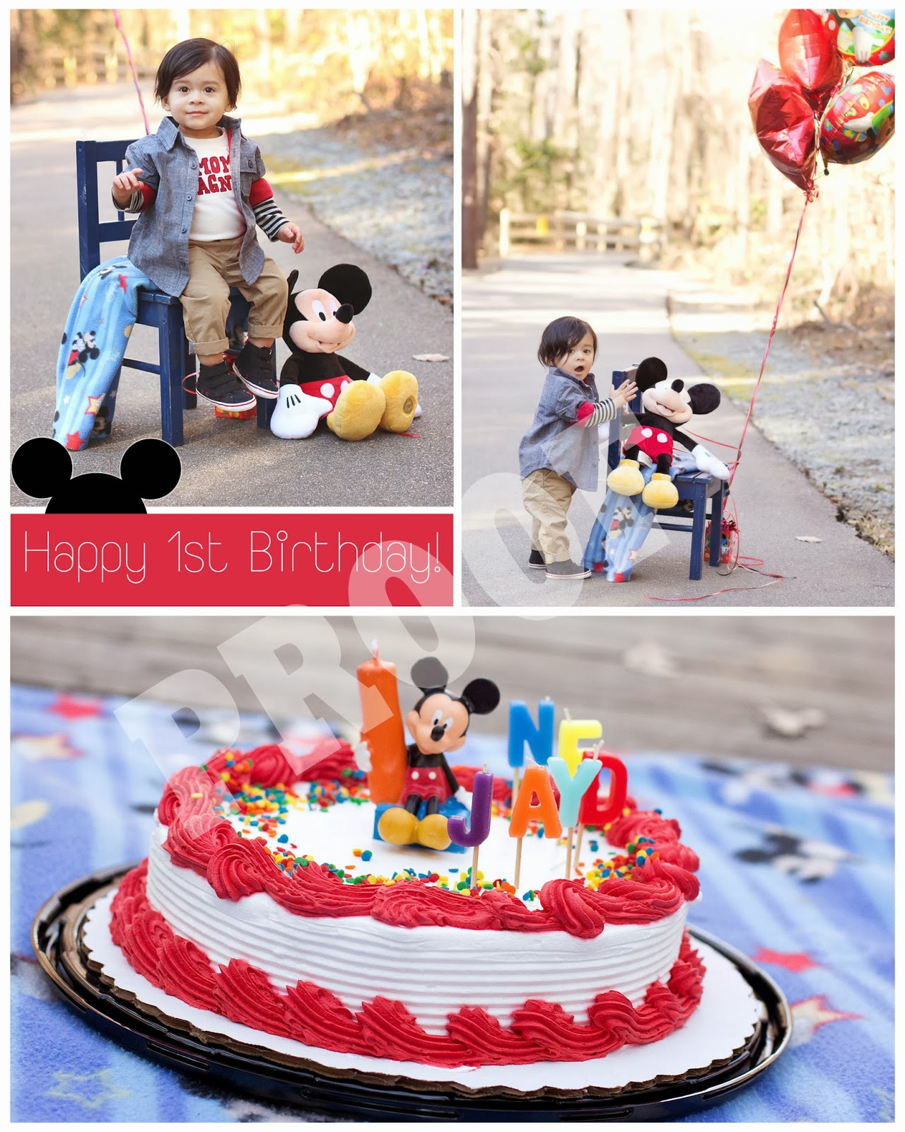 Sharilyn Wells Photography 1 Year Old Mickey Cake Smash