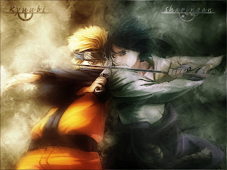 Naruto VS Sasuke Wallpaper 1600x1200