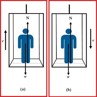 Hukum Newton pada Gaya Tekan Kaki dalam Lift Bergerak