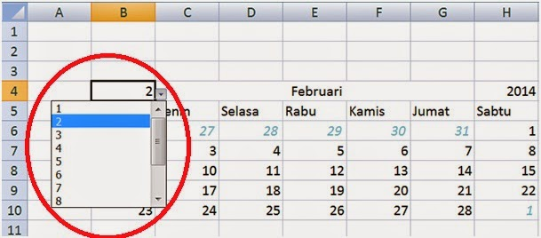 List bulan dalam 1 tahun