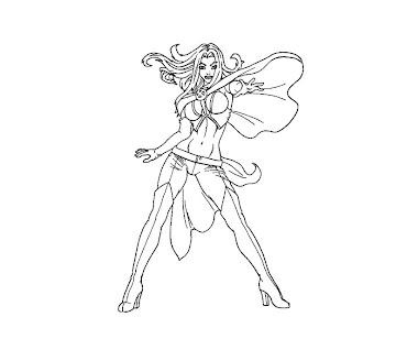 #5 Emma Frost Coloring Page