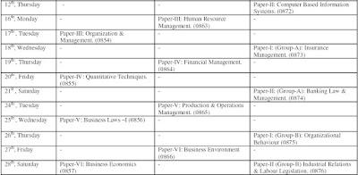 PU Date Sheet BBA 1st, BBA 2nd, BBA 3rd Year 2012 - Part 2