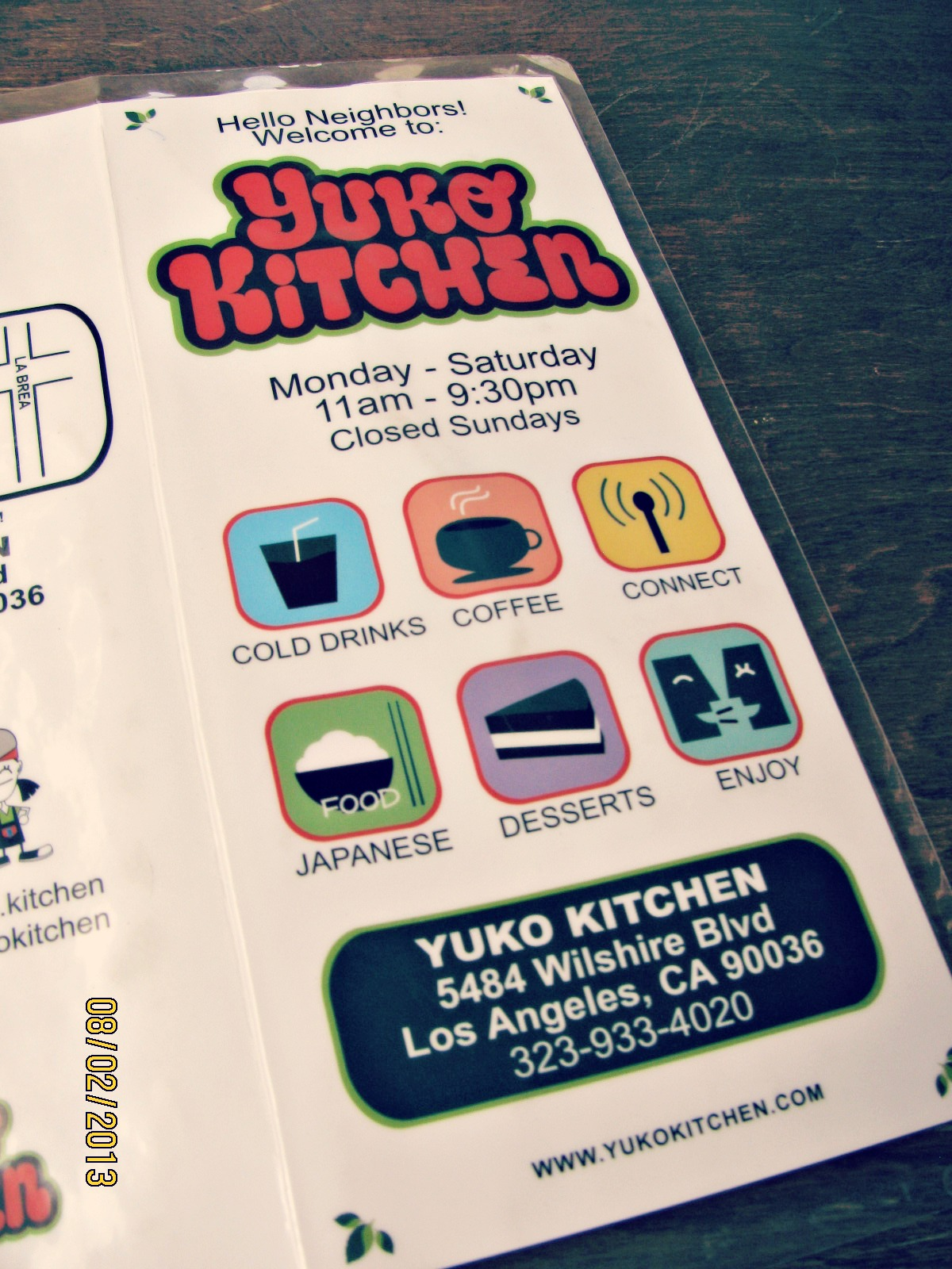 Yuko Kitchen Cafe // Address & Hours