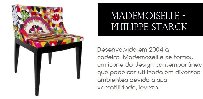 Cadeira Mademoiselle desenhada pelo designer Philippe Starck