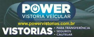 POWER VISTORIA VEICULAR Rua. Cel. Nogueira Padilha, 2004 Vila Hortência - Sorocaba - SP tel: (15) 3442-4440 / 99742-4440 Nextel: ID 126*73496