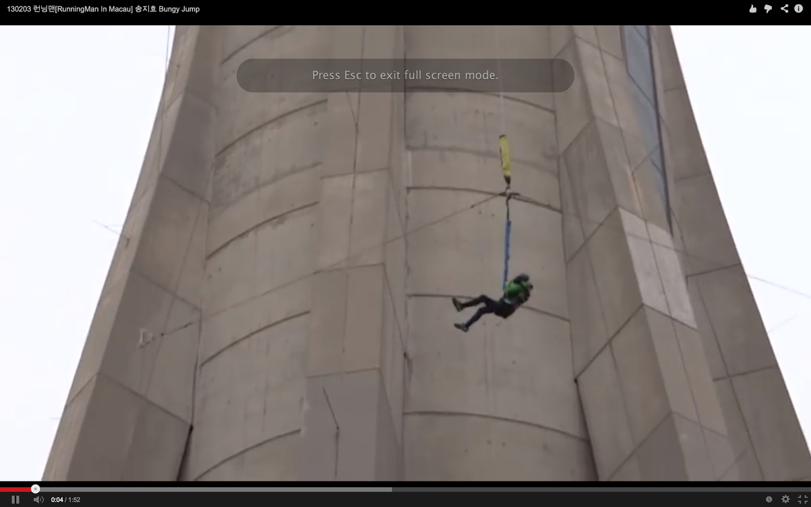 jihyo bungee jump at macau