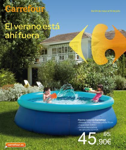 Oferta en piscinas verano 2018 en carrefour for Piscinas online ofertas