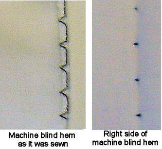 blind hem stitch machine