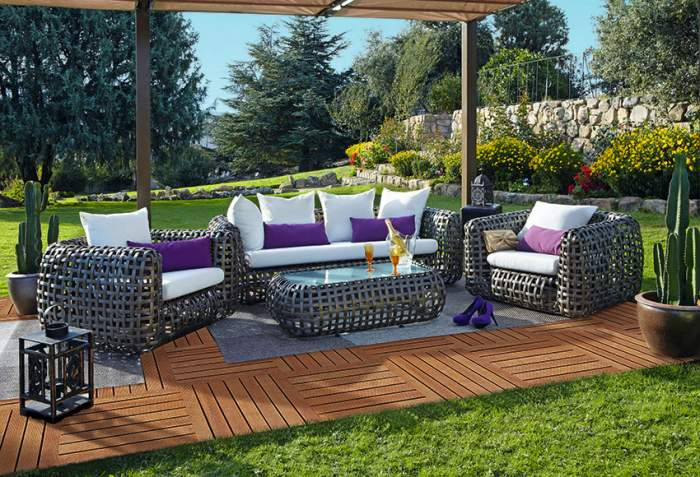 Hogar 10 con el buen tiempo aprovecha otros espacios de for Muebles de terraza leroy merlin