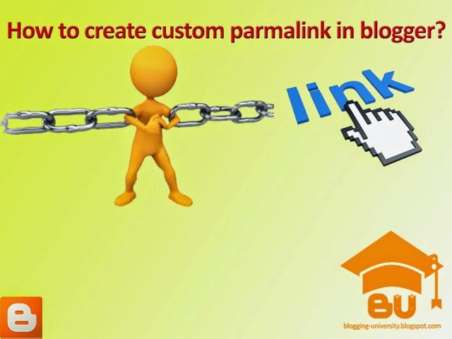 how to create custom permalink of post in blogger