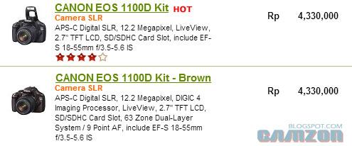 Related Posts : Review Spesifikasi dan Harga Kamera Canon 1100D