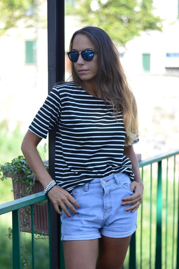 shorts jeans vita alta