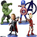 Bobble Heads The Avengers (The Avengers): Iron Man, Cap America, Thor and Hulk