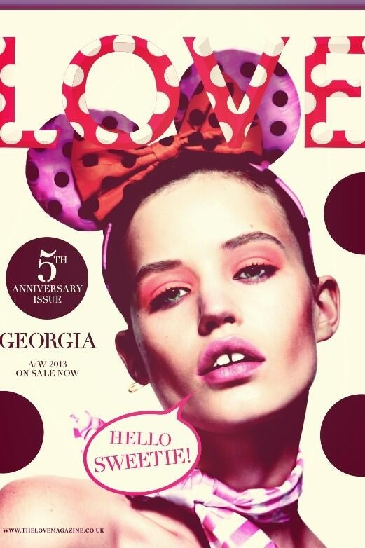 Georgia May Jagger flaunts polks-dots on the cover of LOVE magazine