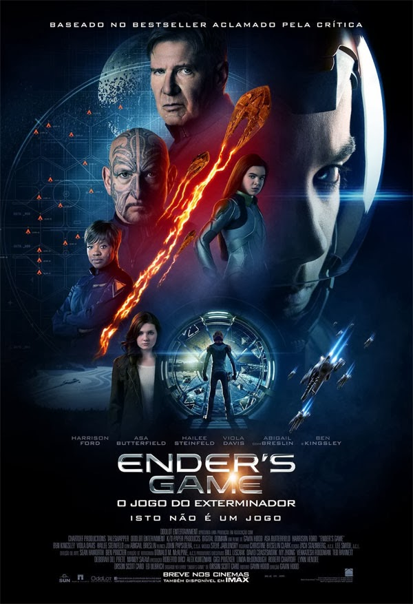 Enders Game: O Jogo do Exterminador   BDRip AVI Dual Áudio + RMVB Dublado