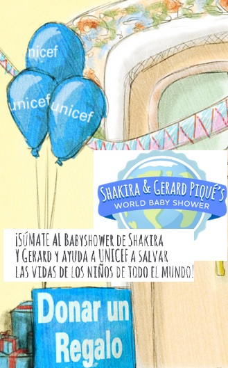 UNICEF SHAKIRA Y BEBES BABY SHOWER REGALOS VIRTUAL