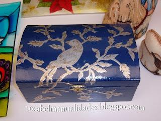 Rosabel manualidades cajas con esta o repujado for Manualidades con estano
